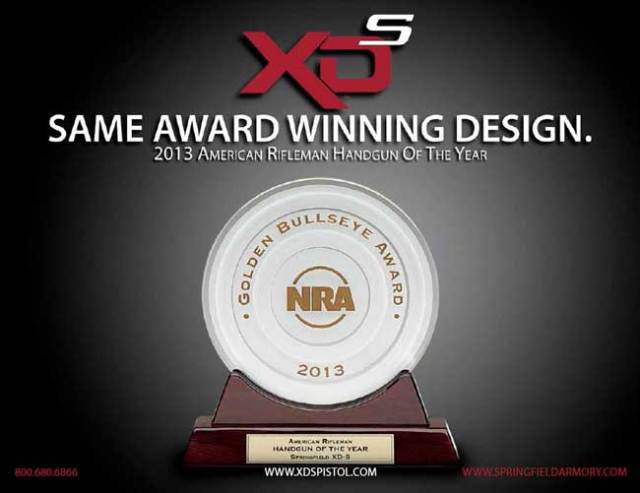 NRA Golden Bullseye Handgun of the Year XDS-9