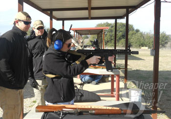Shooters on the Line at the Local Gun Club