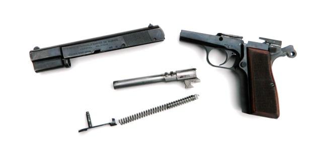Field stripped Hi-Power pistol