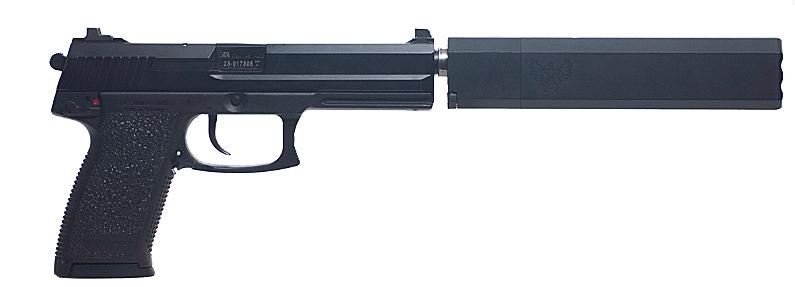 HK Mark 23-11 with SilencerCo .45 ACP Osprey Suppressor