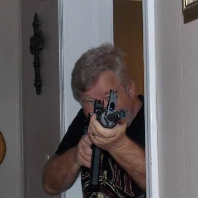 Bob Campbell holding an AR-15