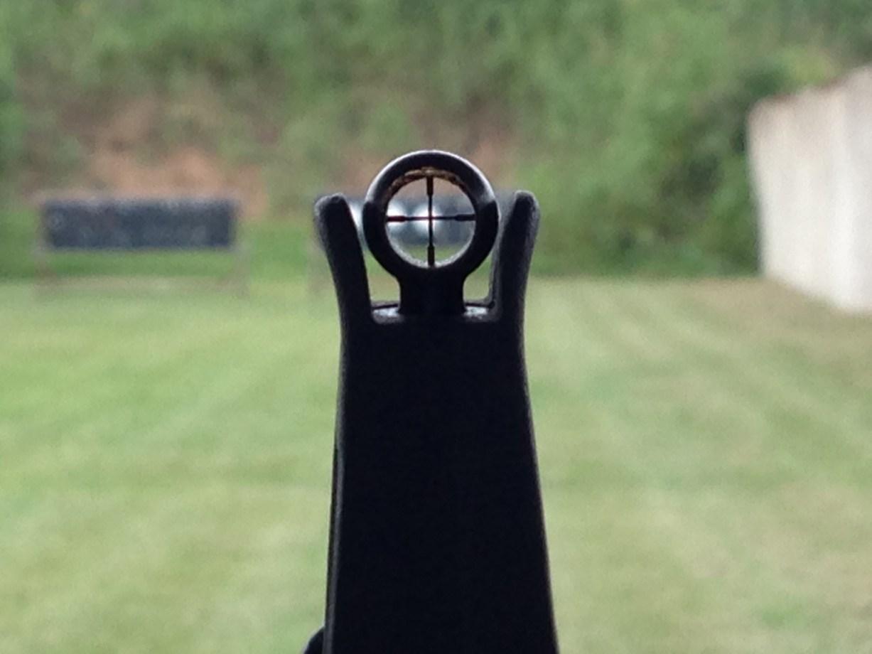 KNS AR-15 crosshair front sight post.