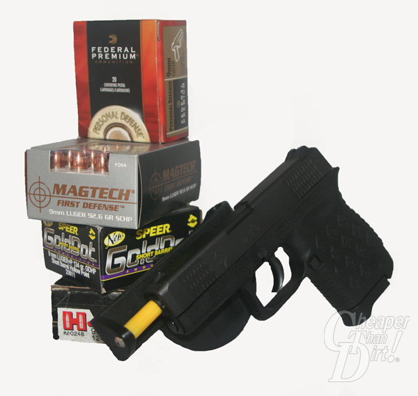 Boxed 9 mm Ammunition and Diamondback DB9 pistol