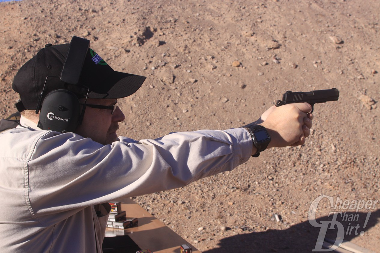 Browning Black Label 1911-380 in action at Media Day at the Range 2015