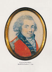 Picture shows a cameo painting of Irish gun maker, John Rigby.