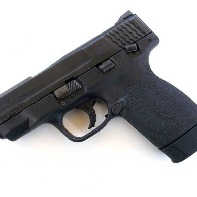 Smith and Wesson M&P Shield pistol left