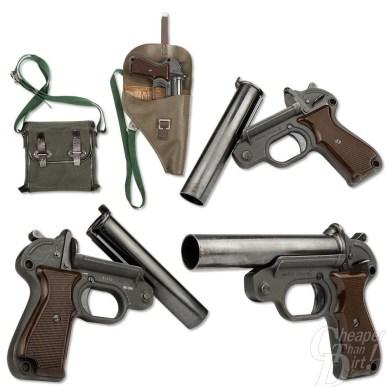 Picture shows a vintage German military surplus flare gun kit.