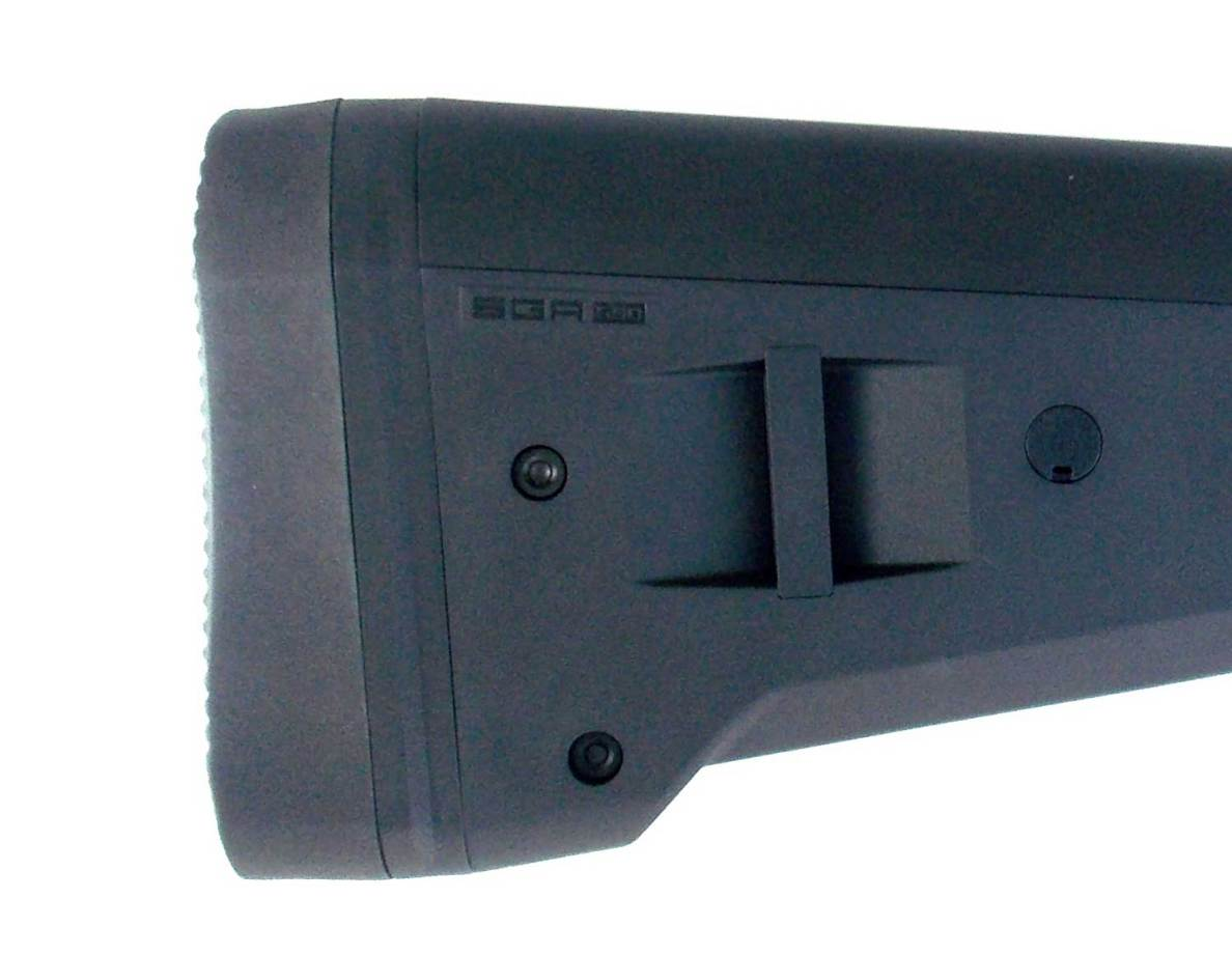 Butt of the Magpul SGA stock right