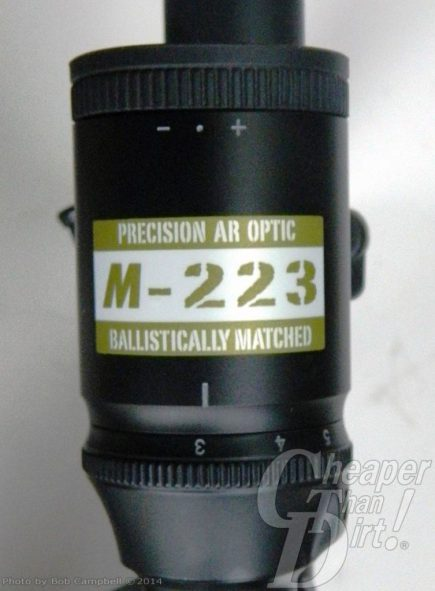 """Black M223 marked with """"M223"""" on a gray background"""