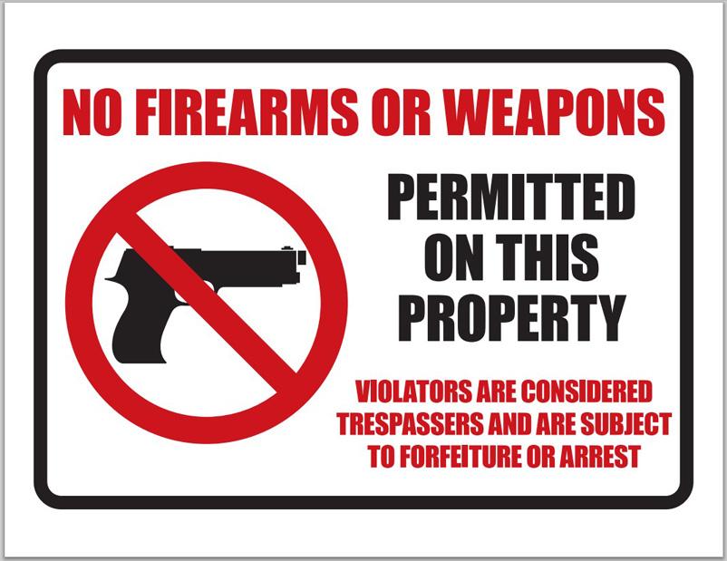 Circle bar no guns sign