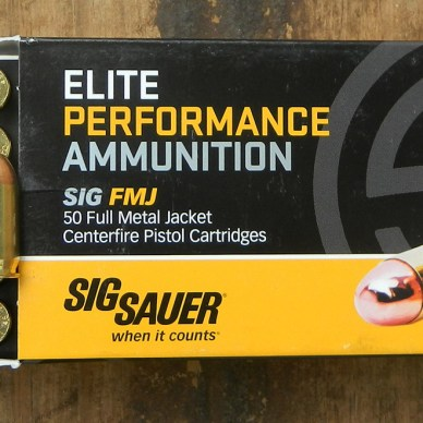 SIG Sauer M17 pistol with 9mm+P ammunition