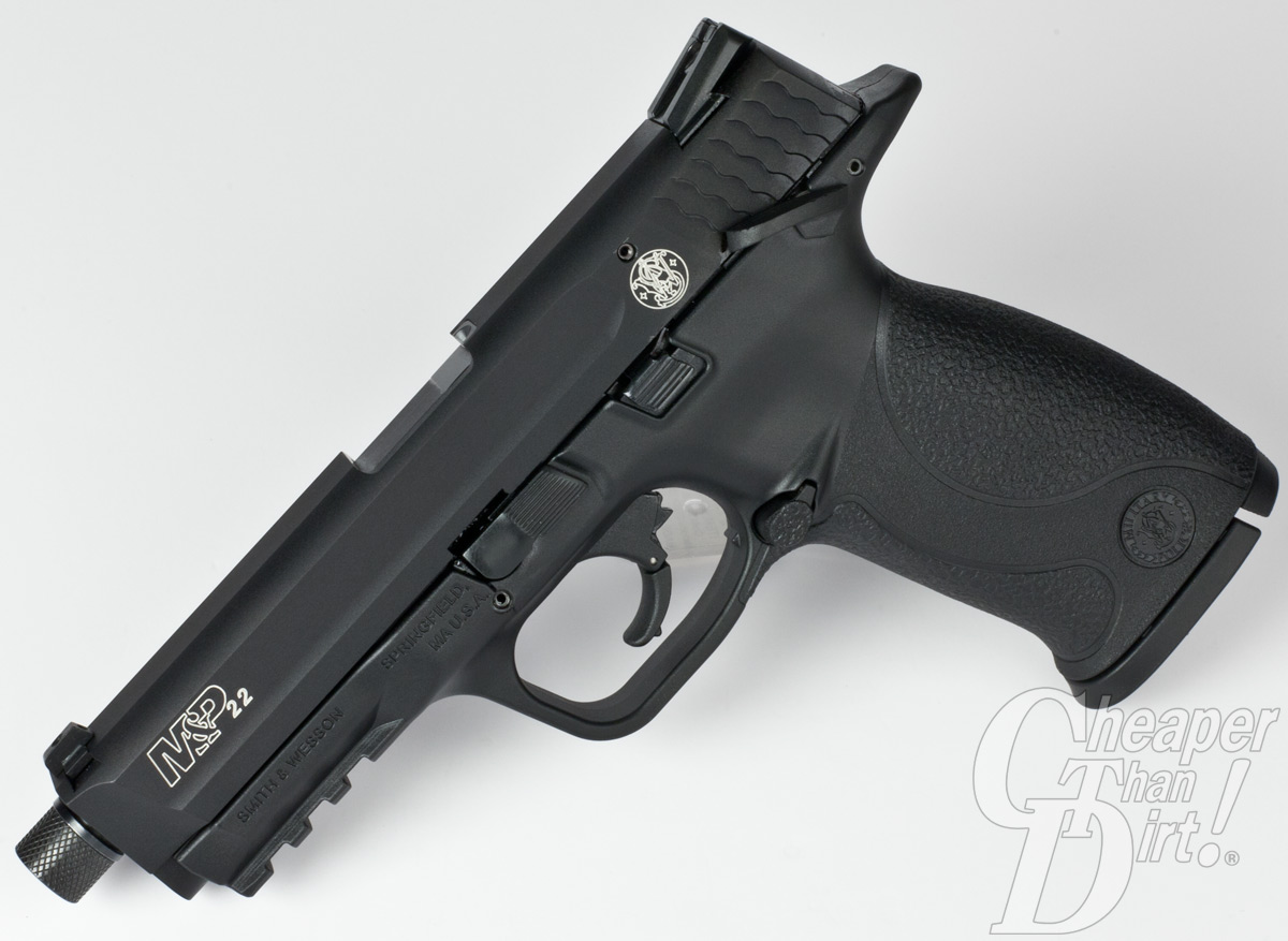 The S&W M&P 22 slide functions smooth as butter.