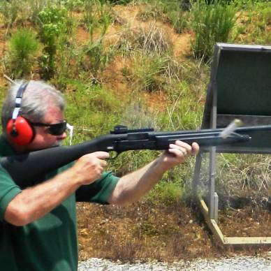 Bob Campbell shooting the Raptor shotgun