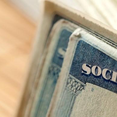 Upper left corner of a social security card