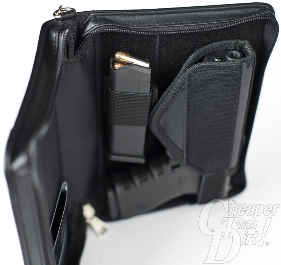 The magazine loop has Velcro on one side.