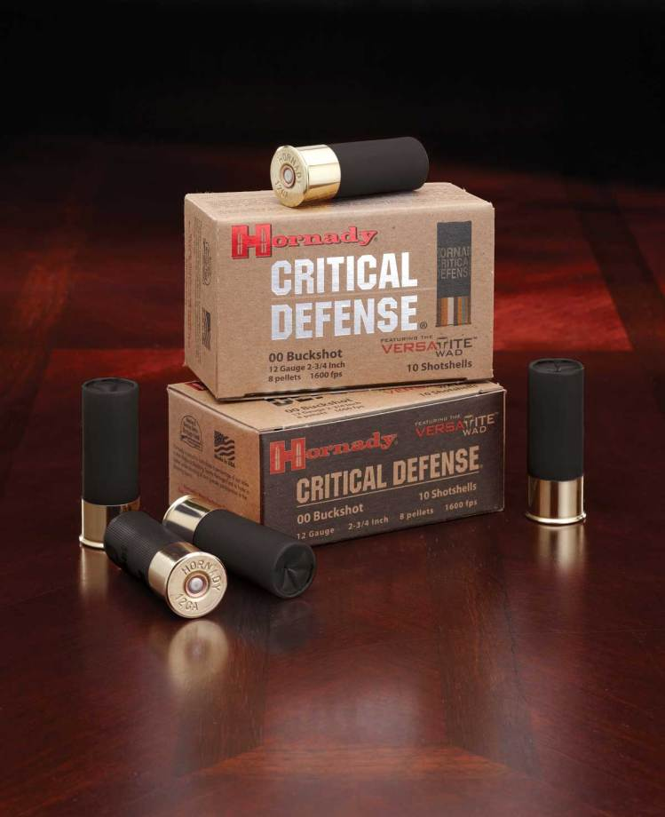 Hornady Critical Defense shotgun shells and boxes