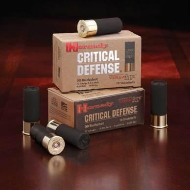 Hornady Critical Defense shotgun shells and boxes
