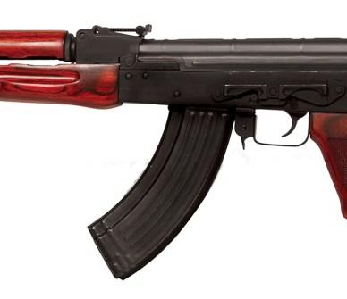 TimberSmith Red Laminate AK Rifle