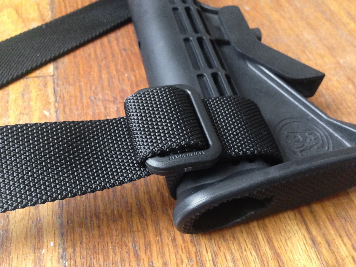 MS1 Magpul sling attached to AR-15 buttstock