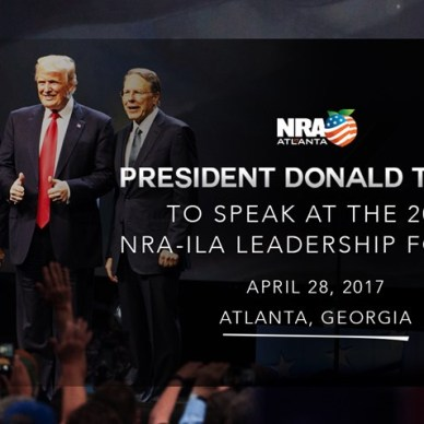 Candidate Donald Trump at 2016 NRA-ILA Leadership forum