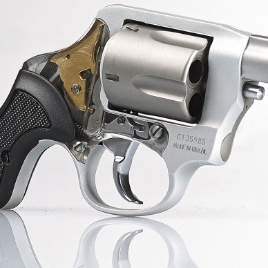 Taurus The View revolver in silver with black grip