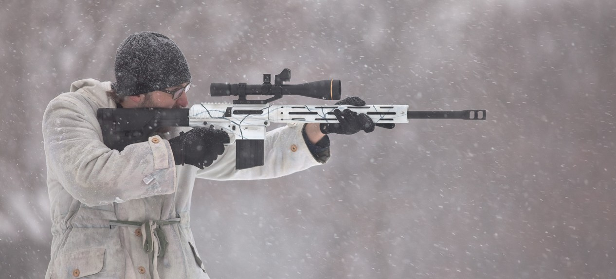 JP07 .308 rifle in winter trim