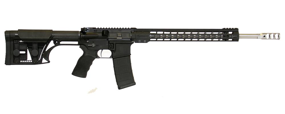 ArmaLite M-15 3-Gun rifle with KeyMod rail and LUTH-AR stock