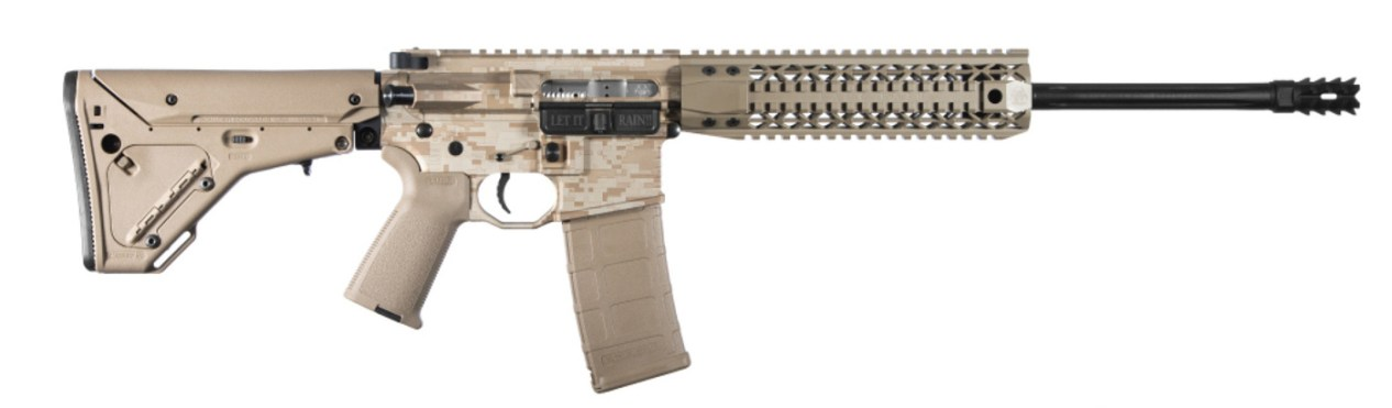 All tan AR-15 built by Black Rain.