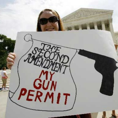 The Second Amendment is my gun permit