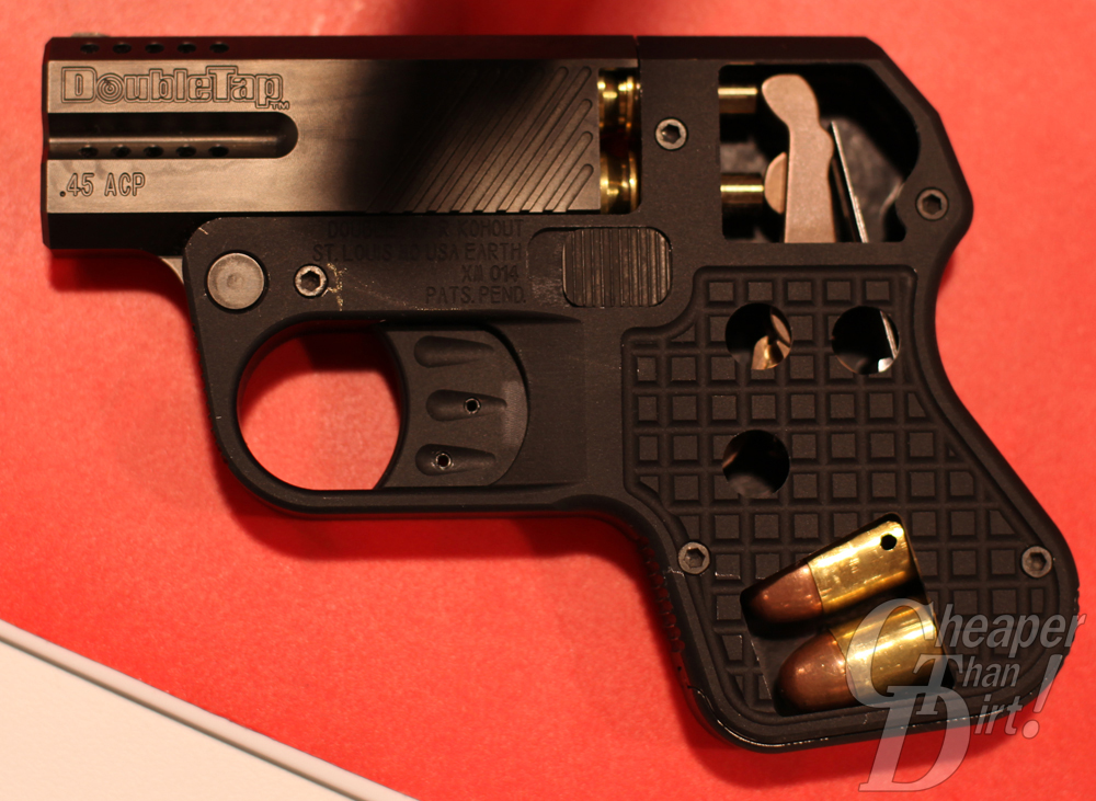 The DoubleTap comes in 9mm or .45 ACP