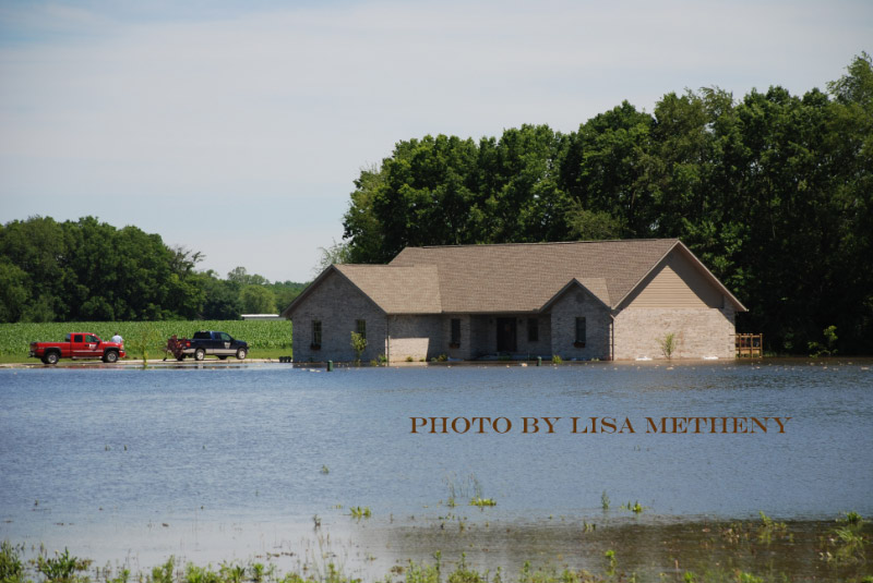 Flooded out House