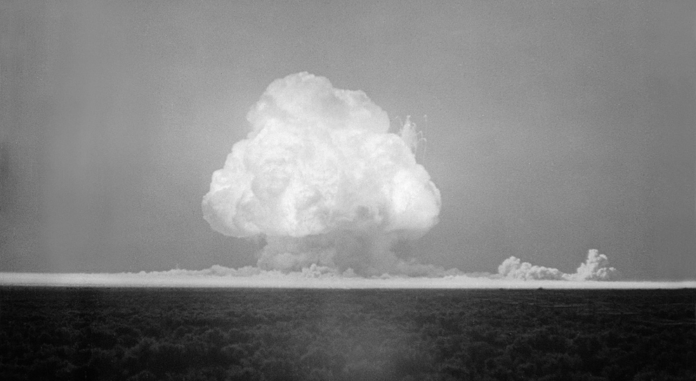 On July 16, 1945, the United States performed the first successful testing of this atom bomb.