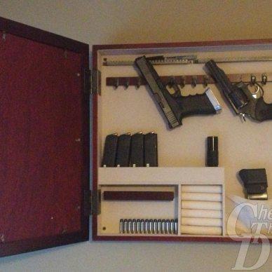 jewerly case repurposed as gun storage