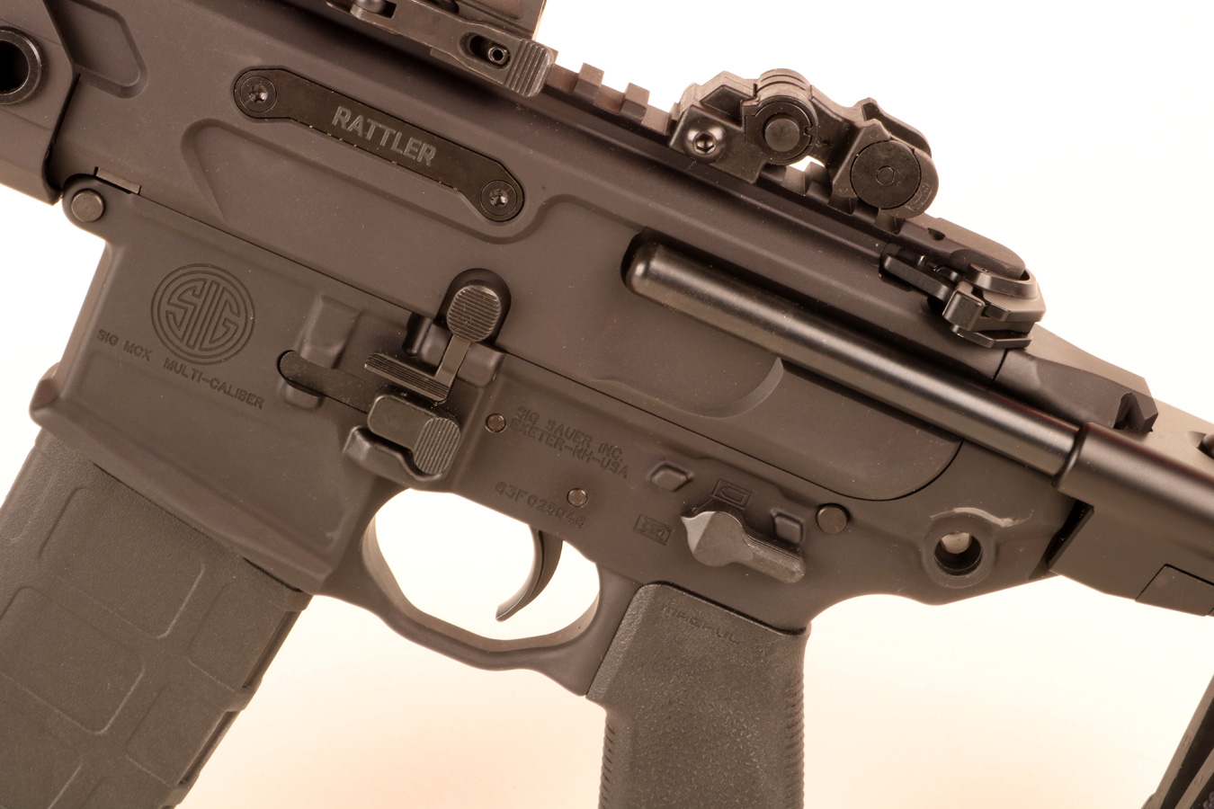 Magazine release on the SIG MCX Rattler