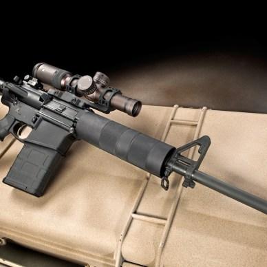 Del Ton AR-10 sitting on a tan hardcase