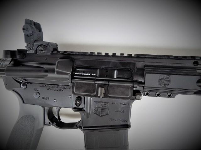 dust cover on an AR-15 rifle