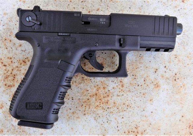 ISSC M22 pistol right, profile, black