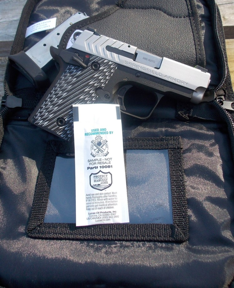Springfield 911 .380 ACp pistol with accessories