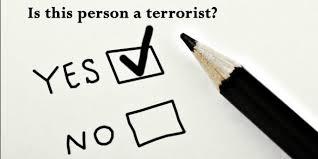 Terrorist Watchlist questionnaire