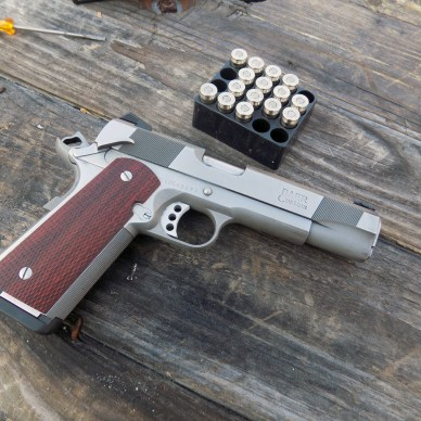 Les Baer Concept IV pistol with Remington Black Belt ammunition