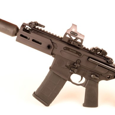 SIG Sauer MCX Rattler with suppressor attached