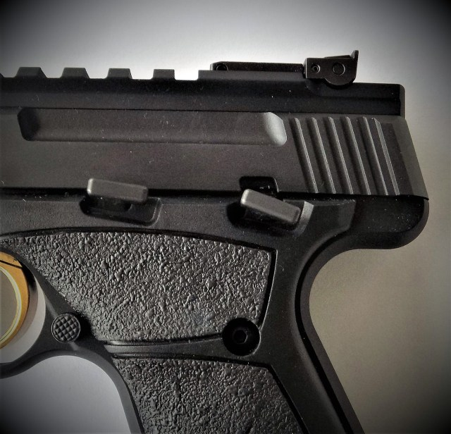 Browning Buckmark safety and slide release lever