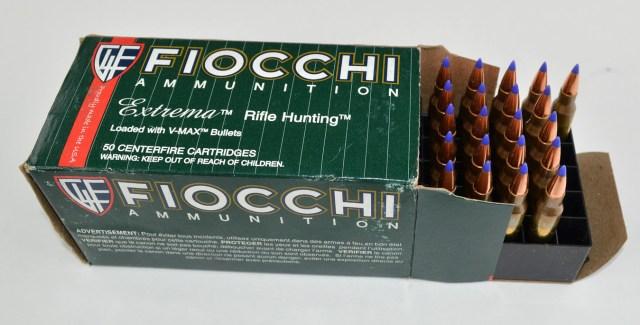 Fiocchi 40-grain V-Max ammunition box