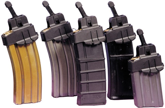 AR-15 magazines with Magula speed loaders