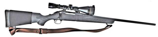 .308 short action rifle with polymer stock right profile