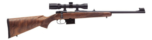 Scoped CZ 527 rifle right profile