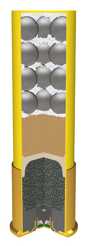 Artist rendering of a 20 gauge shotshell