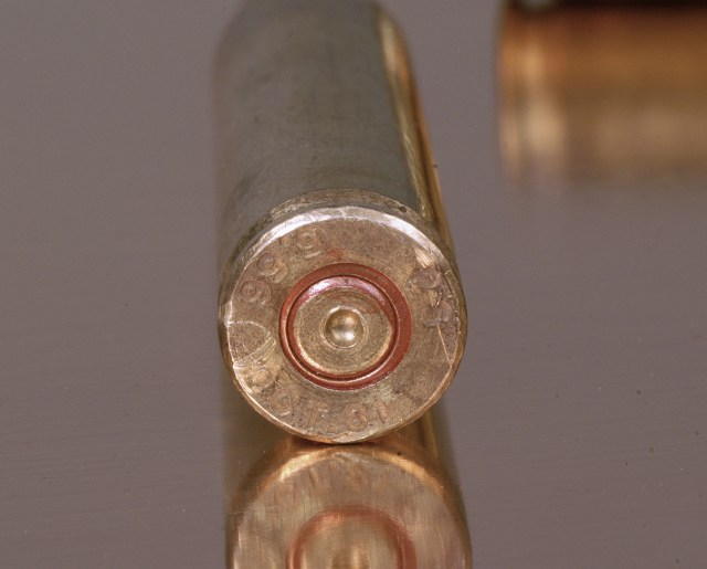 .223 cartridge casing fired in an overpressure chamber