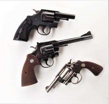 Three cowboy revolvers