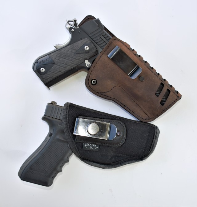 SIG 1911 .45 and Glock